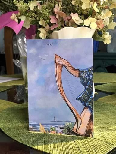 NS Harp Fest card standing